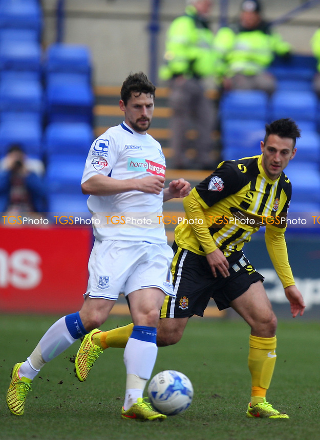 Rob Taylor of Tranmere Rovers and Luke Howell of Dagenham and Redbridge - Tranmere Rovers vs Dagenham and Redbridge - SkyBet League Two football at the Prenton Park Stadium on  07/03/15 - MANDATORY CREDIT: Dave Simpson/TGSPHOTO - Self billing applies where appropriate - 0845 094 6026 - contact@tgsphoto.co.uk - NO UNPAID USE
