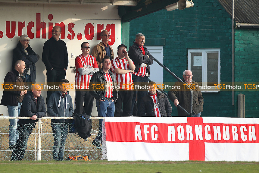Hornchurch fans look on during AFC Hornchurch vs Aveley, Ryman League Divison 1 North Football at Hornchurch Stadium on 12th March 2016
