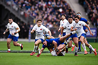 9th February 20020, Stade de France, Paris, France; 6-Nations international mens rugby union, France versus Italy;  Antoine Dupont (France ) breaks into an open field run