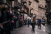 breakaway group rolling through town<br /> <br /> 109th Milano-Sanremo 2018<br /> Milano &gt; Sanremo (291km)