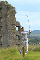 Stuart Bleakley (Shandon Park) on the 13th tee during Round 3 of The South of Ireland in Lahinch Golf Club on Monday 28th July 2014.<br /> Picture:  Thos Caffrey / www.golffile.ie