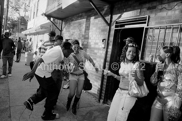 New Orleans, Louisiana.USA.February 28, 2006..Thousands of residents return and party to the 7th ward on Fat Tuesday in New Orleans for Mardi Gras.