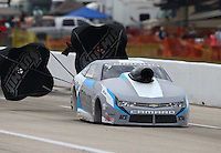 Apr 26, 2015; Baytown, TX, USA; NHRA pro stock driver Jonathan Gray during the Spring Nationals at Royal Purple Raceway. Mandatory Credit: Mark J. Rebilas-