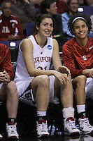 29 March 2008: Morgan Clyburn and Cissy Pierce during Stanford's 72-53 win over Pitt in the sweet sixteen game of the NCAA Division 1 Women's Basketball Championship in Spokane, WA.