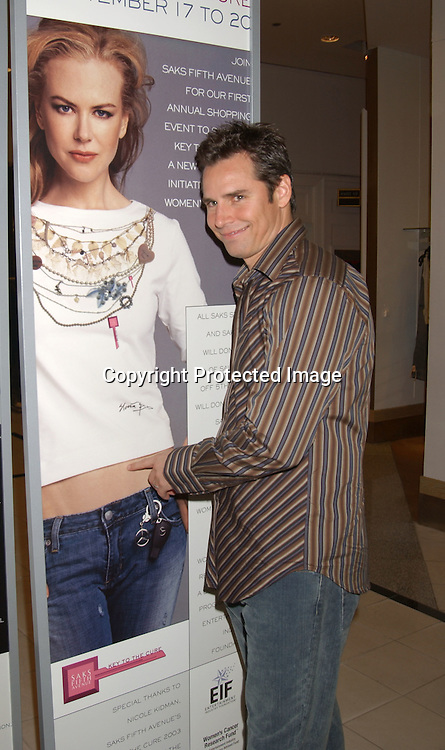 ..Dan Gauthier of One LIfe to LIve..at the Saks Fifth Avenue's Key to the Cure Celebrity Launch on September 17, 2003 in New York City. ..Photo By Robin Platzer, Twin Images