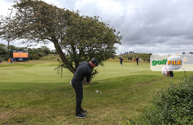 Shaun Norris (RSA) behind the tree at the back of the 4th during Thursday's Round One at The 146th Open played at Royal Birkdale, Southport, England.  20/07/2017. Picture: David Lloyd | Golffile.<br /> <br /> Images must display mandatory copyright credit - (Copyright: David Lloyd | Golffile).