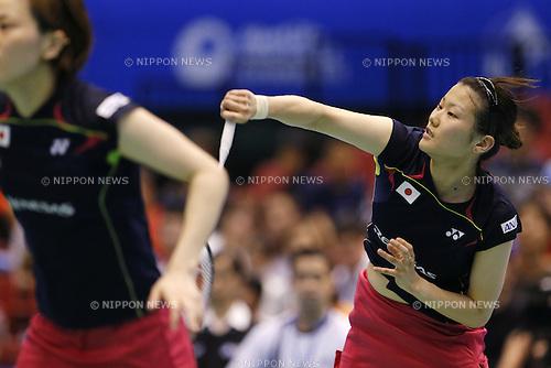 Reika Kakiiwa (JPN), June 15, 2014 - Badminton : Yonex Open Japan 2014 Women's Doubles final at Tokyo Metropolitan Gymnasium, Tokyo, Japan. (Photo by Yusuke Nakanishi/AFLO SPORT) [1090]