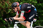 Michael Schar (SUI) BMC Racing Team from the breakaway group in action during Stage 13 of the 2018 Tour de France running 169.5km from Bourg d'Oisans to Valence, France. 20th July 2018. <br /> Picture: ASO/Alex Broadway | Cyclefile<br /> All photos usage must carry mandatory copyright credit (&copy; Cyclefile | ASO/Alex Broadway)