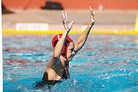 Stanford, CA - April 28, 2019: Emalia Eichelbergerduring the Stanford vs USC MPSF Women's Water Polo Championship Sunday at the Avery Aquatic Center.<br /> <br /> No. 1 Stanford lost the MPSF Championship in sudden death to the No. 2 Trojans, 9-8.