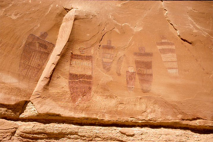 Part of the Great Gallery panel, found in the Horseshoe Canyon area of Canyonlands National Park.