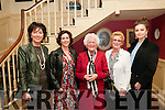 Brendan Kennelly Celebration: Attending the event to celebrate the 80th birthday of poet Brendan Kennelly at the Listowel Arms Hotel on Sunday last were Marion Kennelly, Maureen Byrne, Breda Kennelly, Josie O'Callaghan & Eimer Torley.