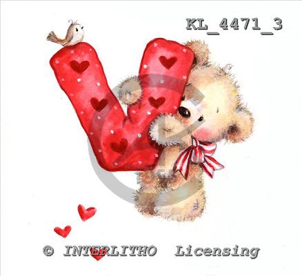 Interlitho, VALENTINE, VALENTIN, paintings+++++,KL4471/3,#v# stickers ,everyday