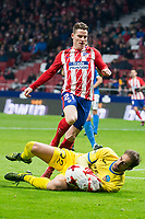 Atletico de Madrid Kevin Gameiro and Lleida Esportiu Diego Rivas Rego during King's Cup match between Atletico de Madrid and Lleida Esportiu at Wanda Metropolitano in Madrid, Spain. January 09, 2018. (ALTERPHOTOS/Borja B.Hojas) /NortePhoto.com NORTEPHOTOMEXICO