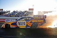 Feb. 17 2012; Chandler, AZ, USA; NHRA funny car driver Ron Capps during qualifying for the Arizona Nationals at Firebird International Raceway. Mandatory Credit: Mark J. Rebilas-