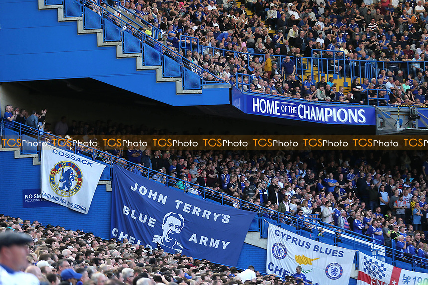 John Terry 'Blue Army' banner on display during Chelsea vs Sunderland AFC, Premier League Football at Stamford Bridge on 21st May 2017