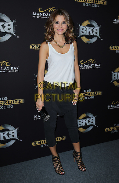 16 August 2014 - Las Vegas, Nevada - Maria Menounos. Big Knockout Boxing Inaugural Event Celebrity Red Carpet at Mandalay Bay Events Center.   <br /> CAP/ADM/MJT<br /> &copy; MJT/AdMedia/Capital Pictures