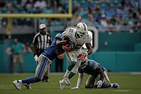 MIAMI, FL, 21.10.2018 – DOLPHINS-LIONS – Jogador Drake do Miami, durante partida válida pela sétima semana da temporada regular da NFL, no Hard Rock Stadium, na tarde deste domingo (21). (Foto: Jayson Braga / Brazil Photo Press)