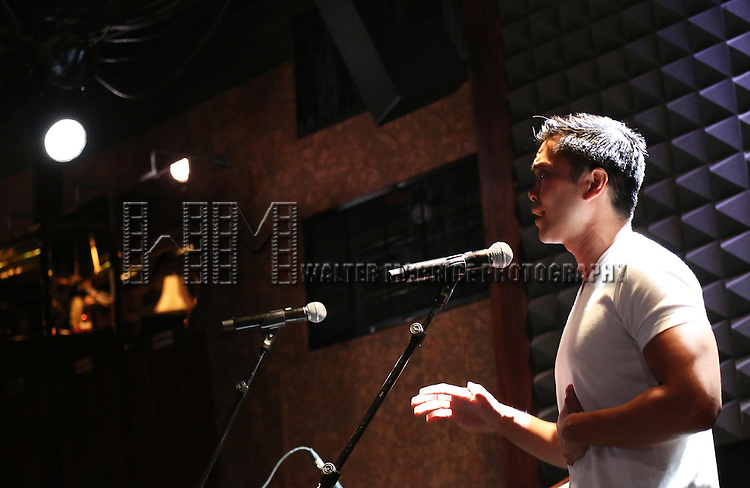 Jose Llana in rehearsal for 'The Lord & The Master - Broadwayworld.com sings Andrew Lloyd Webber & Stephen Sondheim'  at Joe's Pub on June 16, 2014 in New York City.