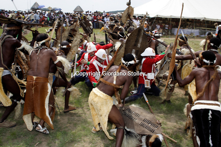 ISLANDWANA - 21 January 2006 - The battle of Islandwana is re-enacted at the very scene where Zulu impis defeated a British force on 22 January 1879. Picture: Giordano Stolley