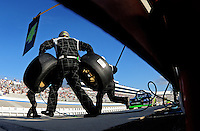 Sept 19, 2008; Dover, DE, USA; NASCAR Camping World Series East driver Ricky Carmichael pits during the Sunoco 150 at Dover International Speedway. Mandatory Credit: Mark J. Rebilas-