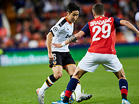 5th November 2019; Mestalla, Valencia, Spain; UEFA Champions League Football,Valencia versus Lille; Kangin Lee is challenged by Domagoj Bradaric of Lille - Editorial Use