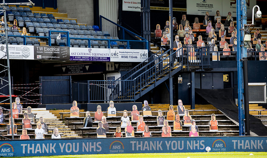 Cardboard cut-outs of fans line the stands as the advertising boards display thanks for the NHS <br /> <br /> Photographer Andrew Kearns/CameraSport<br /> <br /> The EFL Sky Bet Championship - Luton Town v Preston North End - Saturday 20th June 2020 - Kenilworth Road - Luton<br /> <br /> World Copyright © 2020 CameraSport. All rights reserved. 43 Linden Ave. Countesthorpe. Leicester. England. LE8 5PG - Tel: +44 (0) 116 277 4147 - admin@camerasport.com - www.camerasport.com