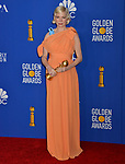 a_Michelle Williams 123 poses in the press room with awards at the 77th Annual Golden Globe Awards at The Beverly Hilton Hotel on January 05, 2020 in Beverly Hills, California.