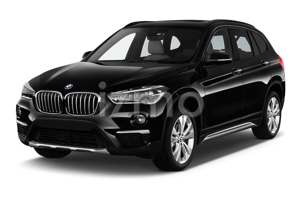 2016 BMW X1 xLine 5 Door Suv Angular Front stock photos of front three quarter view
