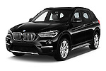 2016 BMW X1 xLine 5 Door Suv Angular Front stock photos of front three quarter view