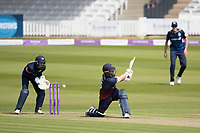 Steven Croft of Lancashire CCC looks for the short boundary, misses and is bowled by Nathan Sowter of Middlesex CCC during Middlesex vs Lancashire, Royal London One-Day Cup Cricket at Lord's Cricket Ground on 10th May 2019