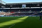 10.04.2019, Schauinsland-Reisen-Arena, Duisburg, GER, 2. FBL, MSV Duisburg vs. 1. FC Koeln,<br />  <br /> DFL regulations prohibit any use of photographs as image sequences and/or quasi-video<br /> <br /> im Bild / picture shows: <br /> die Koelner Fans nehmen eine ganze Seite ein. <br /> <br /> Foto &copy; nordphoto / Meuter