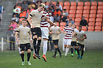 HOUSTON, TX - DECEMBER 11:  Sam Raben (26) of Wake Forest University goes up for a header during the Division I Men's Soccer Championship held at the BBVA Compass Stadium on December 11, 2016 in Houston, Texas.  Stanford defeated Wake Forest 1-0 in a penalty shootout for the national title. (Photo by Justin Tafoya/NCAA Photos via Getty Images)