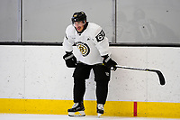 September 15, 2017: Boston Bruins left wing Brad Marchand (63) waits to skate during the Boston Bruins training camp held at Warrior Ice Arena in Brighton, Massachusetts. Eric Canha/CSM