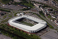 Aerial view of Liberty Stadium home of Swansea City Football Club