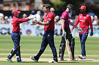Matt Coles of Essex celebrates taking the wicket of Luke Wells during Sussex Sharks vs Essex Eagles, Royal London One-Day Cup Cricket at The Saffrons on 3rd June 2018