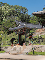 Pavillon Juhamnu am Buyongji-Teich im Secret Garden = Huwon= Biwon des Changdeokgung Palast, Seoul, S&uuml;dkorea, Asien, UNESCO-Weltkulturerbe<br /> pavilion Juhamnu at Buyongji-pond  in the secret garden of  palace Changdeokgung,  Seoul, South Korea, Asia UNESCO world-heritage