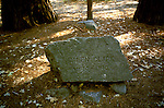 CA: Yosemite National Park, Galen Clark gravesite, gravestone                  .Photo Copyright: Lee Foster, lee@fostertravel.com, www.fostertravel.com, (510) 549-2202.cayose231