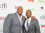 """One Life To Live's Sean Ringgold """"Shaun Evans"""" with Darnell Williams """"Jesse Hubbard"""" at New York Premiere Event for beloved series """"One Life To Live"""" on April 23, 2013 at NYU Skirball, New York City, New York - as The Online Network (TOLN) - OLTL - AMC begin airing on April 29, 2013 on Hulu and Hulu Plus.  (Photo by Sue Coflin/Max Photos)"""