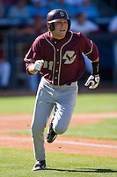Anthony Melchionda #11 of the Boston College Eagles hustles down the first base line versus the Florida State Seminoles at Durham Bulls Athletic Park May 20, 2009 in Durham, North Carolina. (Photo by Brian Westerholt / Four Seam Images)