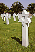 Carthage, Tunisia. American World War II Cemetery.  Jewish Grave.  Woman.  Star of David.