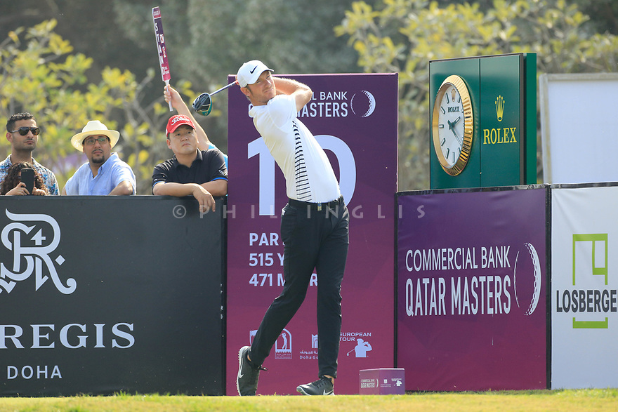 Chris Wood (ENG) during the second round of the Commercial Bank Qatar Masters played at Doha Golf Club, Qatar. 23/02/2018<br /> Picture: Golffile | Phil Inglis<br /> <br /> <br /> All photo usage must carry mandatory copyright credit (&copy; Golffile | Phil Inglis)