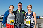 Charlotte Divane, Colin Ahern and Karen O'Carroll at the annual Ballyheigue Family Resource Centre Road Race & Fun Run on Sunday