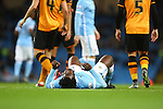 Wilfried Bony of Manchester City dejected - Manchester City vs Hull City - Capital One Cup - Etihad Stadium - Manchester - 29/12/2015 Pic Philip Oldham/SportImage