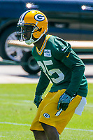 Green Bay Packers safety Jermaine Whitehead (35) during an OTA on June 1, 2017 at Clark Hinkle Field in Green Bay, Wisconsin. (Brad Krause/Krause Sports Photography)