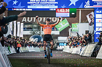 Mathieu Van der Poel (NED) wins the race and retains his title as European Champion<br /> <br /> UEC CYCLO-CROSS EUROPEAN CHAMPIONSHIPS 2018<br /> 's-Hertogenbosch – The Netherlands<br /> Men Elite Race