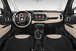 Stock photo of straight dashboard view of 2017 Fiat 500L Lounge 5 Door Mini MPV Dashboard