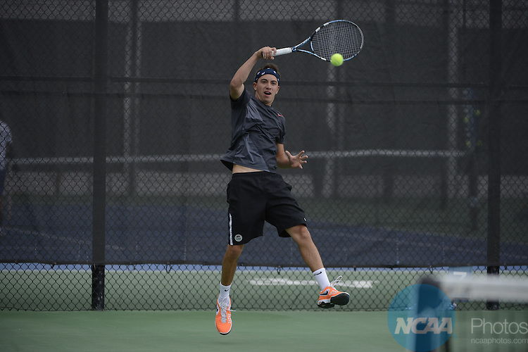 25 APR 2013: The 2013 Mountain West Conference Men's Tennis Championship held at the Air Force Academy in Colorado Springs, CO. Justin Tafoya/NCAA Photos