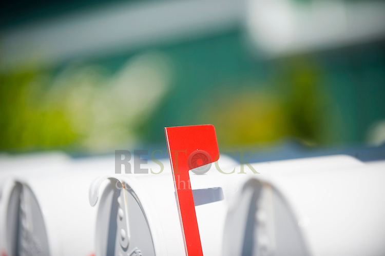 Red Flag on Mailbox