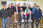WALK OF DREAMS: John Giles one of Ireland's greatest soccer players launching the Kerry Walk of Dreams in aid of the John Giles Foundation at the KDL headquarters, Mounthawk park on Monday seated l-r: Sean O'Keeffe (chairman), John Giles and John Regan (secretary). Back l-r: Sean Moran (KDL), Christy Leahy, Paul Murray, Murt Murphy (PRO), Mike Sullivan, Bobby O'Keeffe, Noel Mooney (Foundation manager), Paula O'Regan, Tom O'Shea (regional manager FAI Munster), Padraig Heartnett and Denis Guerin (KDL).