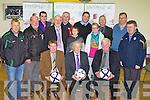 WALK OF DREAMS: John Giles one of Ireland's greatest soccer players launching the Kerry Walk of Dreams in aid of the John Giles Foundation at the KDL headquarters, Mounthawk park on Monday seated l-r: Sean O'Keeffe (chairman), John Giles and John Regan (secretary). Back l-r: Sean Moran (KDL), Christy Leahy, Paul Murray, Murt Murphy (PRO), Mike Sullivan, Bobby O'Keeffe, Noel Mooney (Foundation manager), Paula O'Regan, Tom O'Shea (regional manager FAI Munster), Padraig Heartnett and Denis Guerin (KDL).